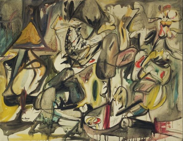 the-leaf-of-the-artichoke-is-an-owl-arshile-gorky-1944
